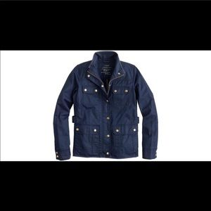 J crew navy blue downfield field jacket